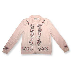 Vintage Cottagecore Hasting & Smith Pink Sweater